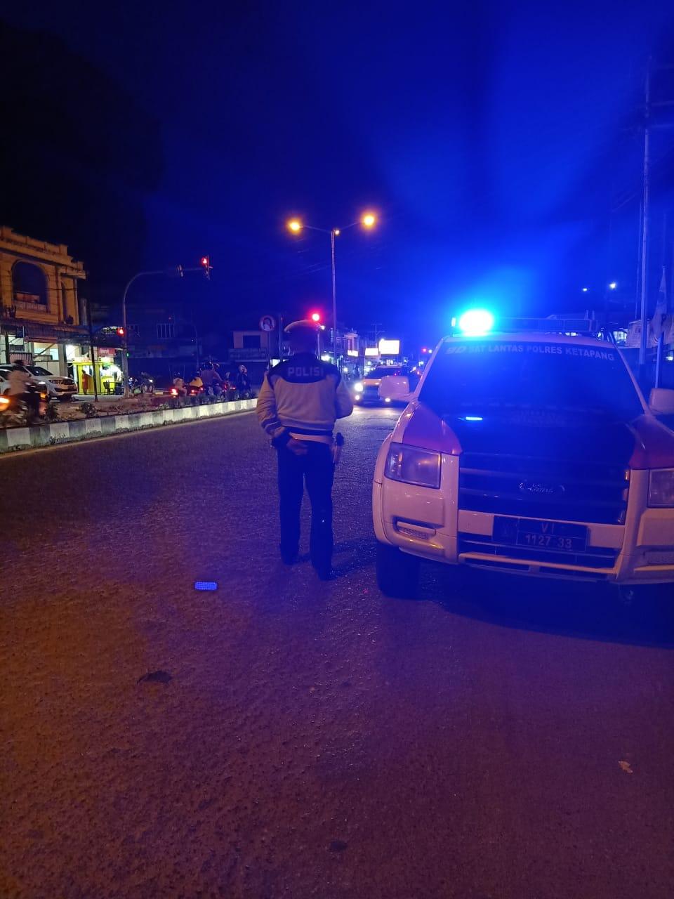 Giat Patroli Suar Biru Sat Lantas Polres Ketapang Pastikan Keamanan Wilayah