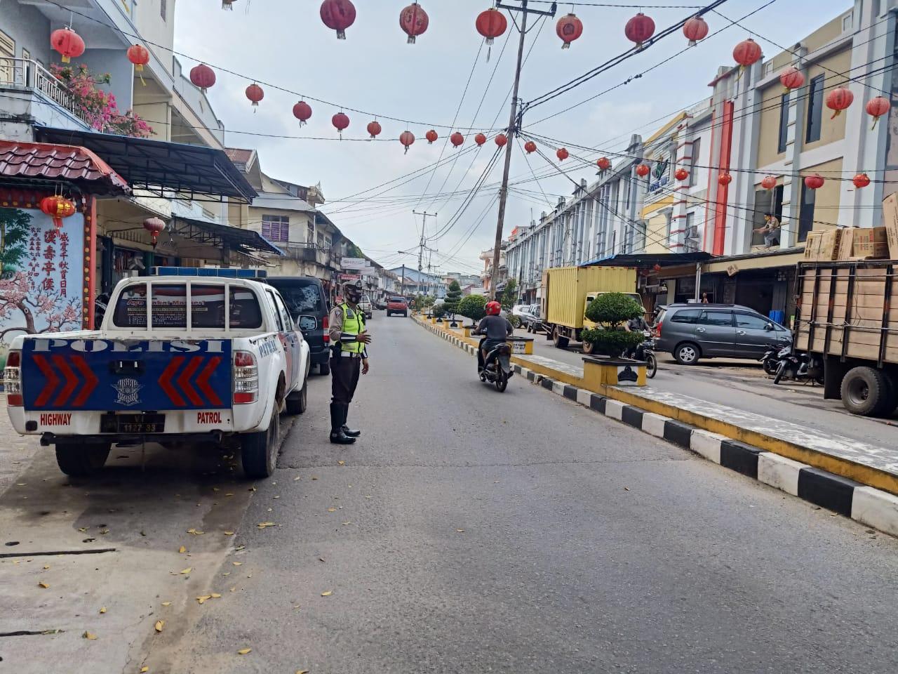 Satlantas Ketapang Laksanakan Patroli Siang,Tingkatkan Situasi Kamtibmas
