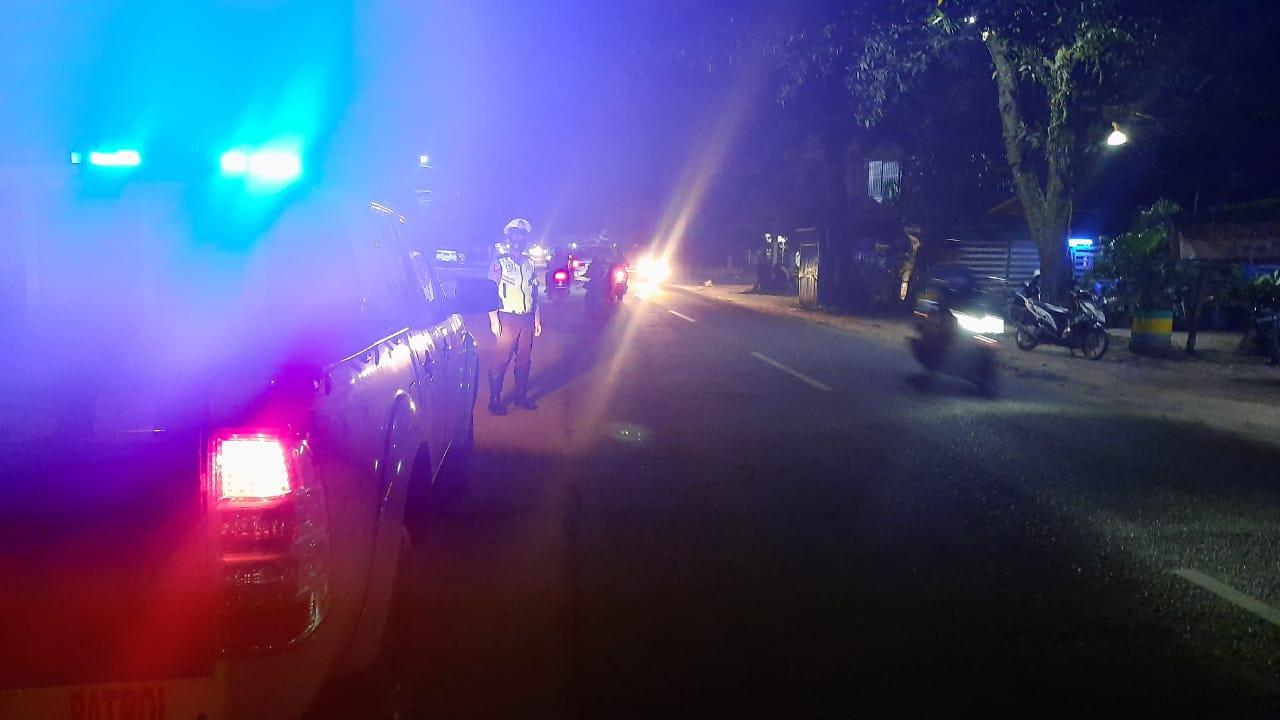 Sat Lantas Polres  Ketapang Rutin Lakukan Patroli Malam Demi Cegah Gangguan Kamtibmas