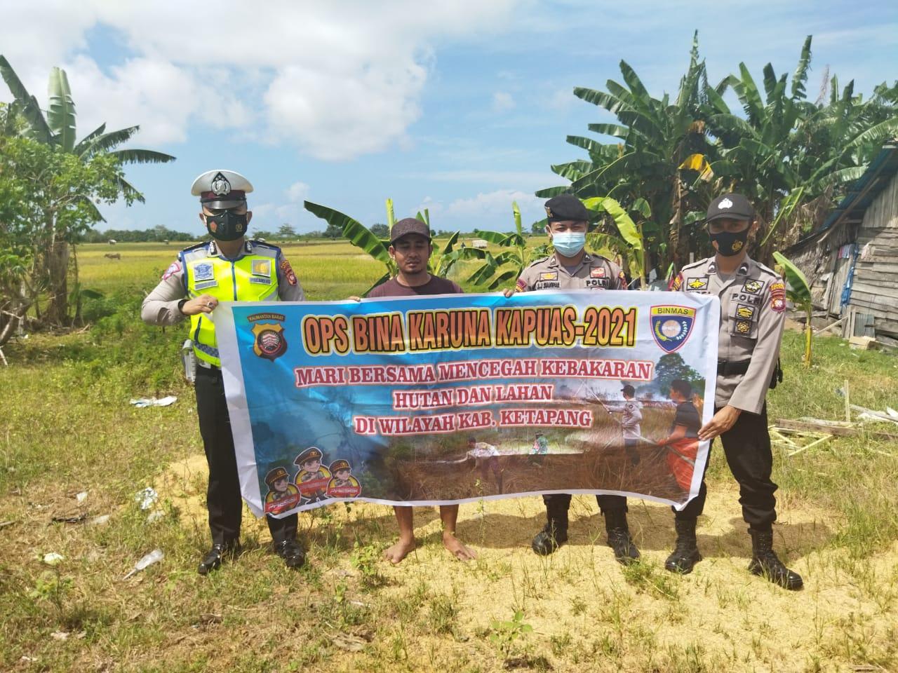 Patroli Terpadu Karhutla juga Beri Edukasi Masyarakat untuk Cegah COVID-19