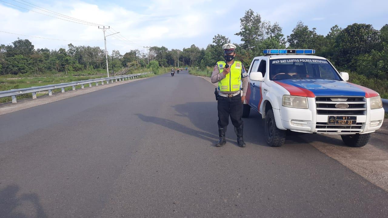 Jembatan Pawan 5 Rawan Pengendara Ugal-Ugalan, ini yang dilakukan Satlantas Polres Ketapang