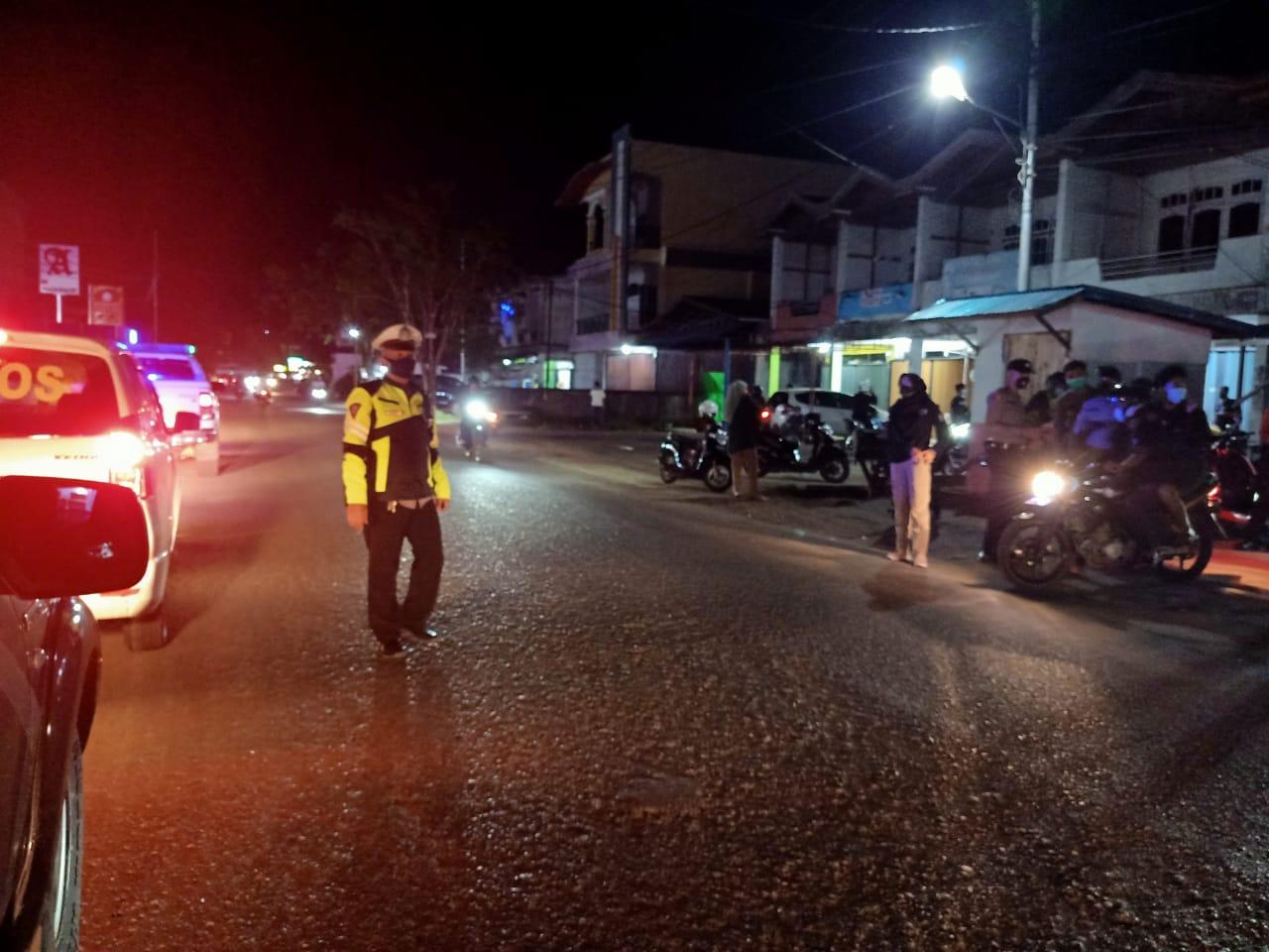 Satlantas Ketapang Guna cegah kiriminalitas jalanan pada malam hari