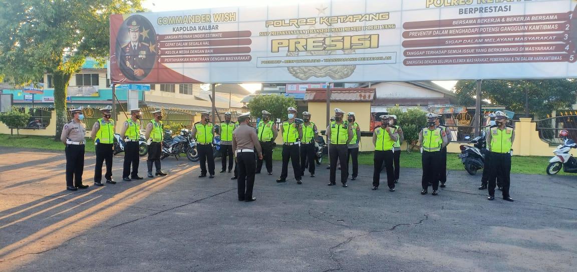 Sebelum Berangkat Patroli ,Satlantas Polres Ketapang Laksanakan Apel Pagi