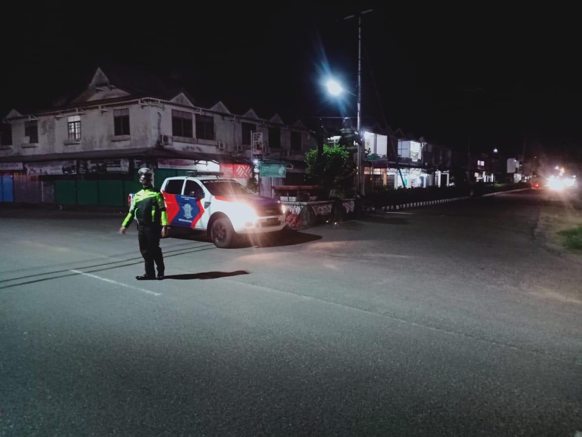 BLP blue light patrol Satlantas Ketapang Guna cegah kiriminalitasd di jalanan