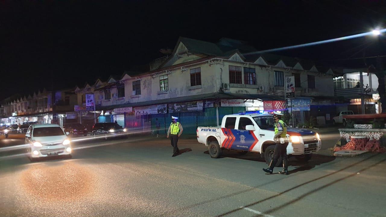BLP blue light patrol Satlantas Ketapang Guna cegah kiriminalitas  di jalanan