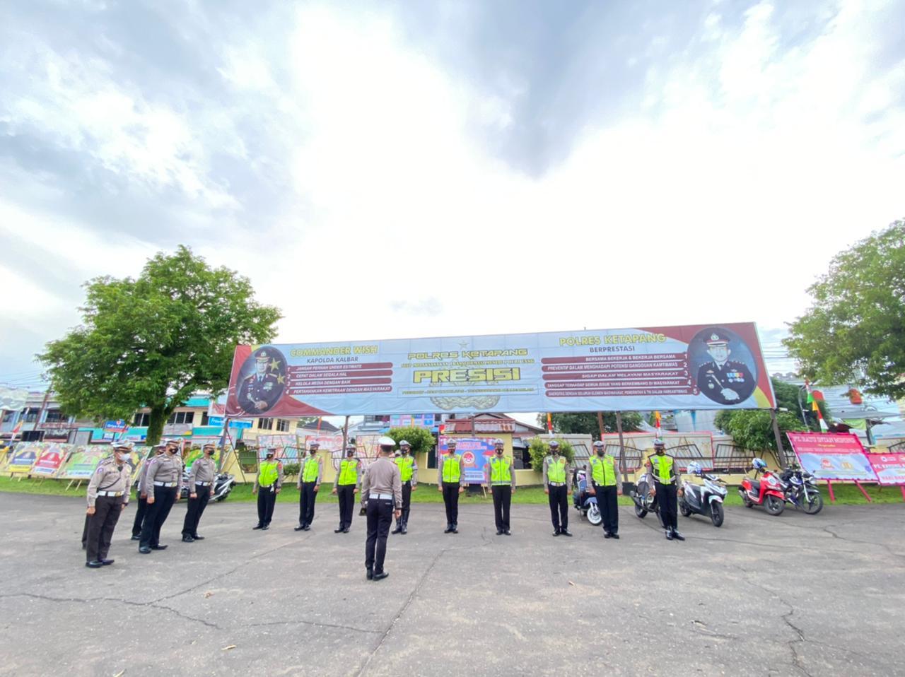 Satlantas Polres Ketapang Laksanakan Apel Pagi mulai aktivitas