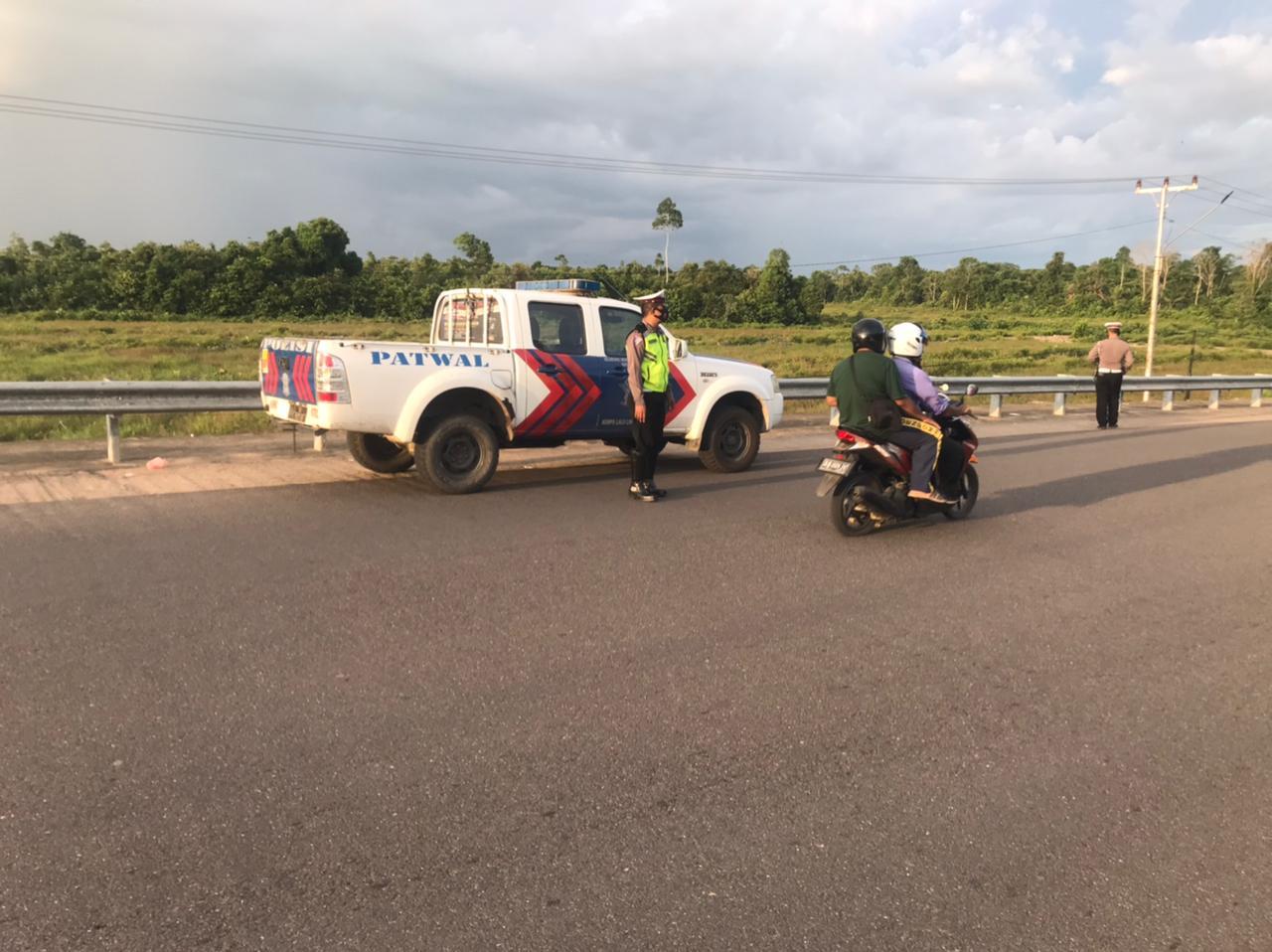 Patroli Jembatan Pawan 5 Gagalkan Aksi Balap Liar Yang Meresahkan