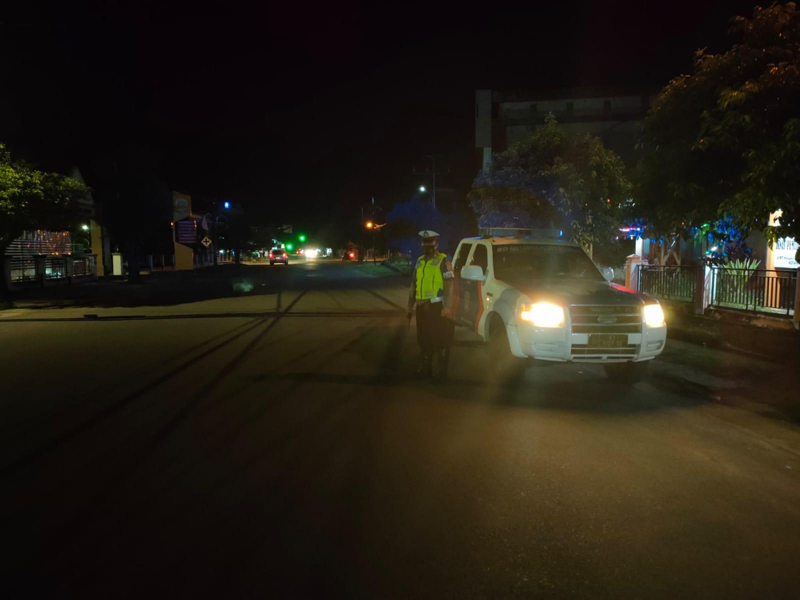 BLP blue light patrol Satlantas Ketapang Guna cegah kiriminalitas jalanan