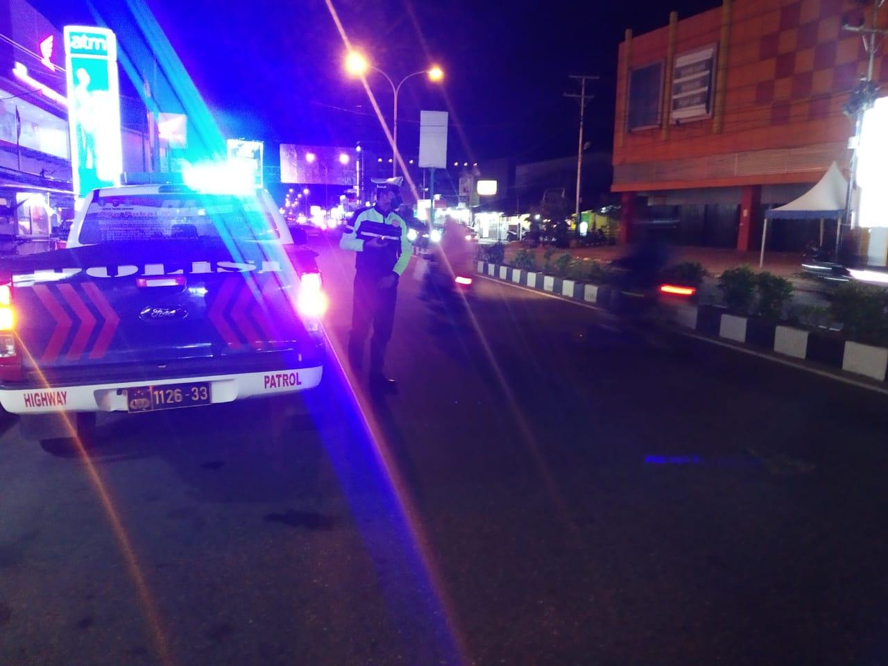 BLP blue light patrol Satlantas Ketapang Guna cegah kiriminalitas