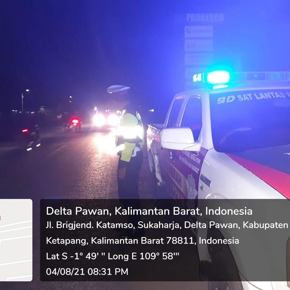 BLP blue light patrol Satlantas Ketapang