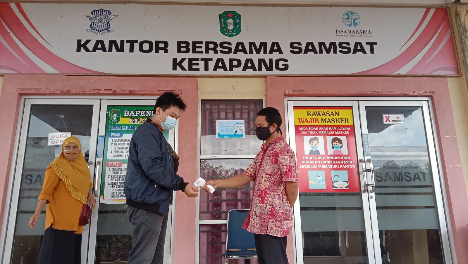 Ikuti Protokol Kesehatan Saat Memasuki Ruang Pelayanan SAMSAT