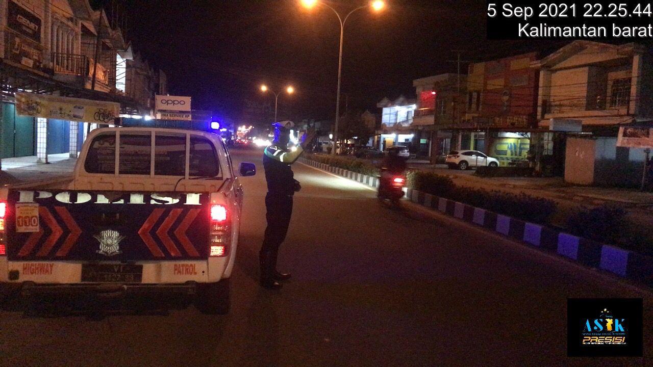 Blue Light Patrol Satlantas Ketapang Guna cegah kriminalitas