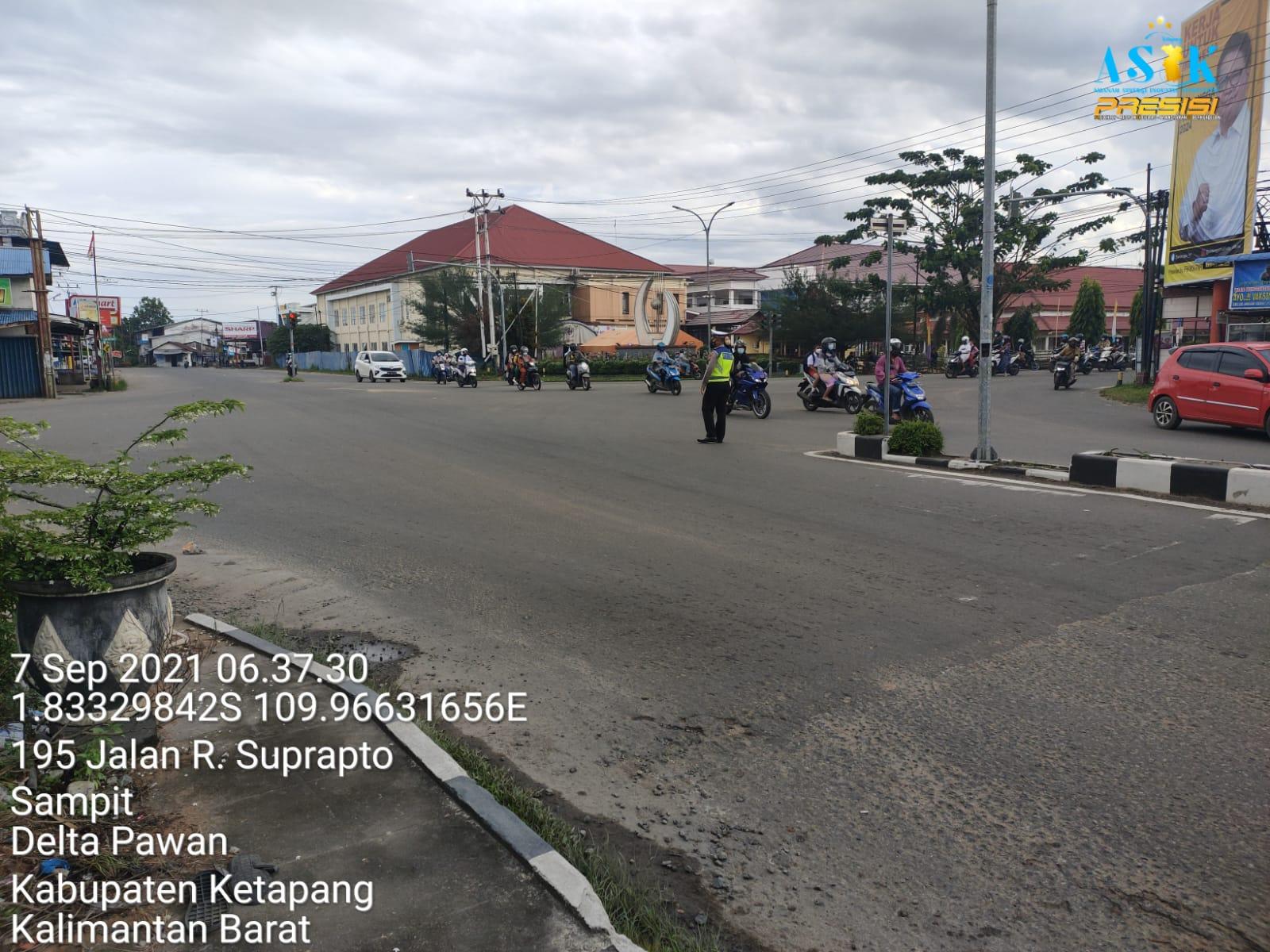 Satlantas Ketapang Berikan Pelayanan kepada Masyarakat dengan Ploting Point