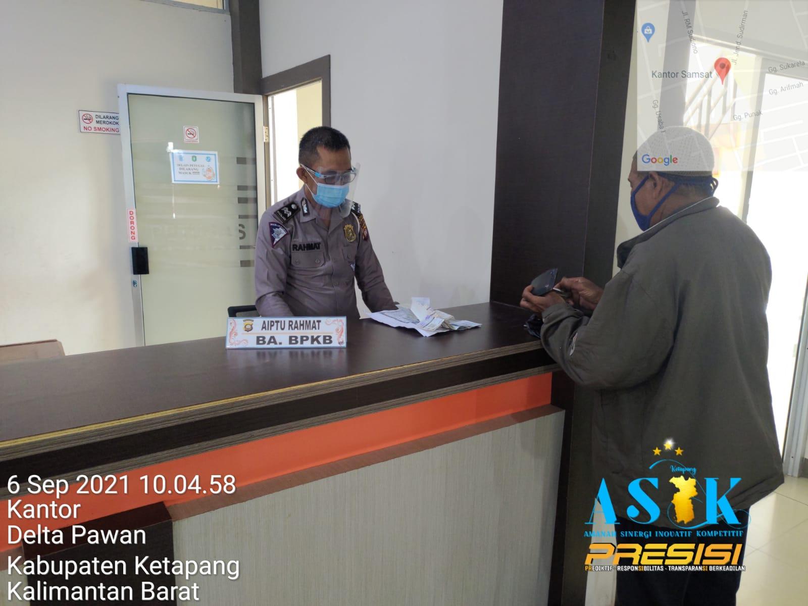 Sistem Elektronik Registrasi dan Identifikasi pada Pelayanan BPKB di Samsat Ketapang