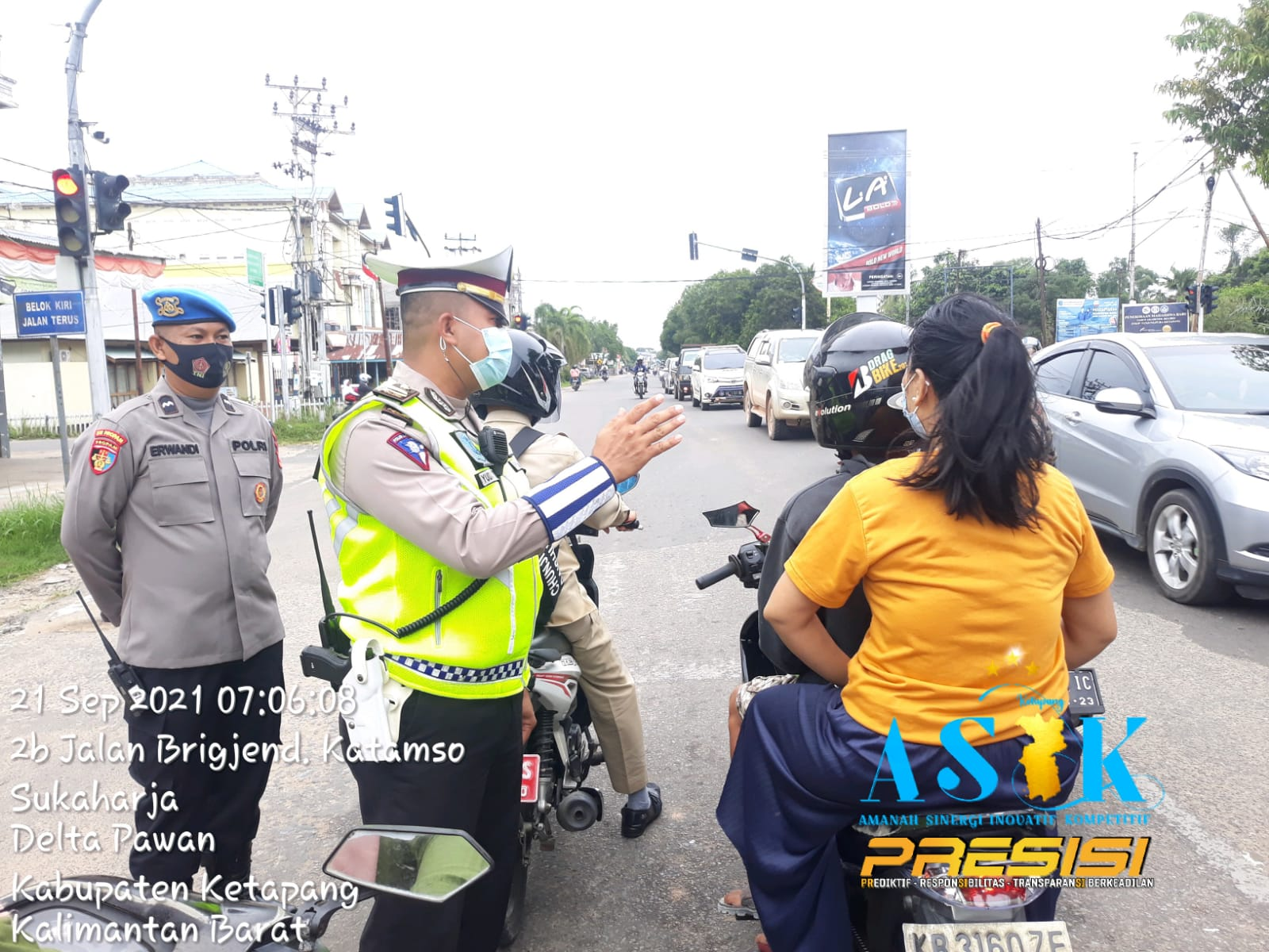 Ops Patuh Kapuas 2021 Satlantas Polres Ketapang laksanakan Imbauan Tertib berlalu lintas