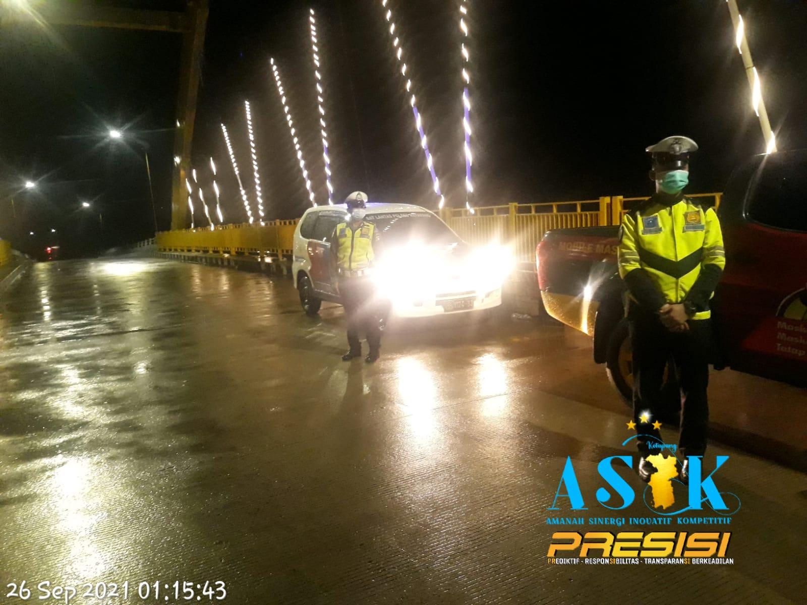 Patroli Malam Satlantas Ketapang, Gencar pada Tempat Rawan Terjadinya Aksi Balap Liar