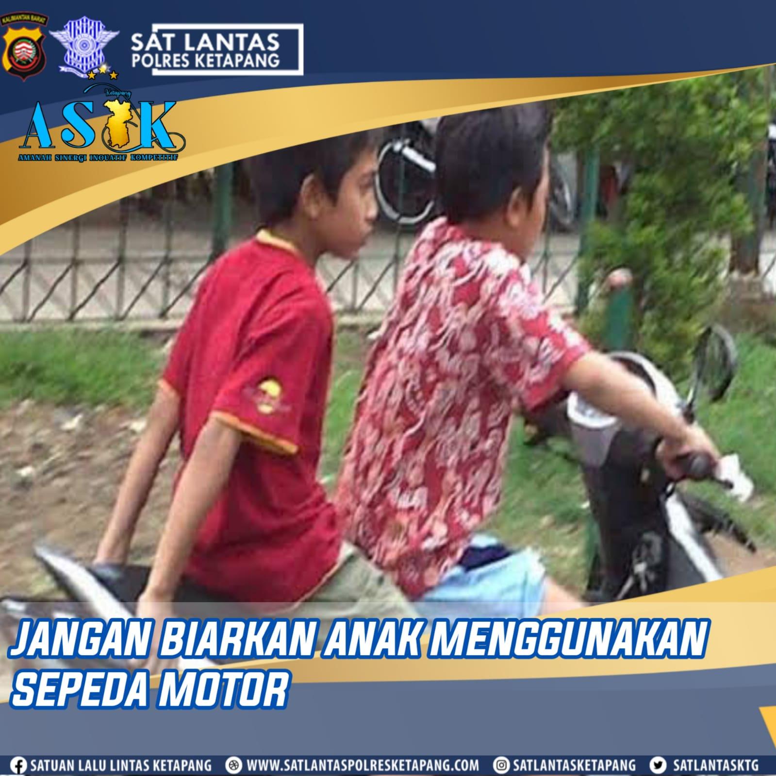 Banyak Anak di Bawah Umur yang Mengendarai Sepeda Motor