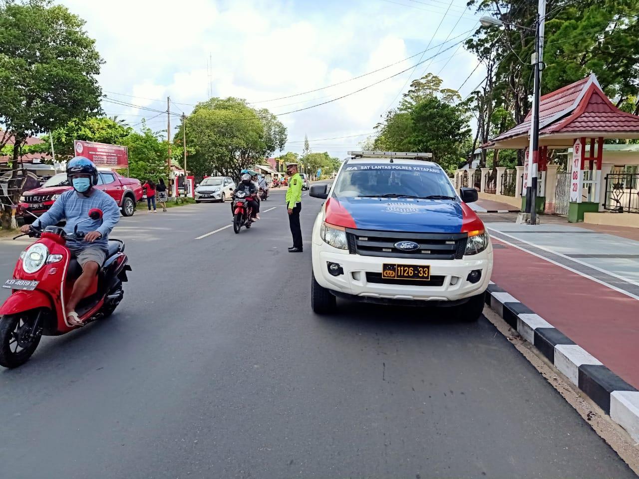 Satlantas Ketapang Laksanakan Patroli Siang,Tingkatkan Kegiatan Preventif & Jaga Situasi Kamtibmas