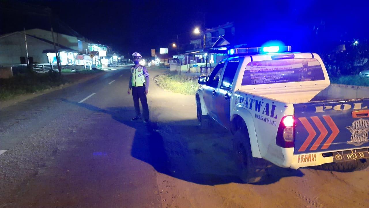 Sat Lantas Melaksanakan giat BLP (Blue Light Patrol) dan Patroli Malam