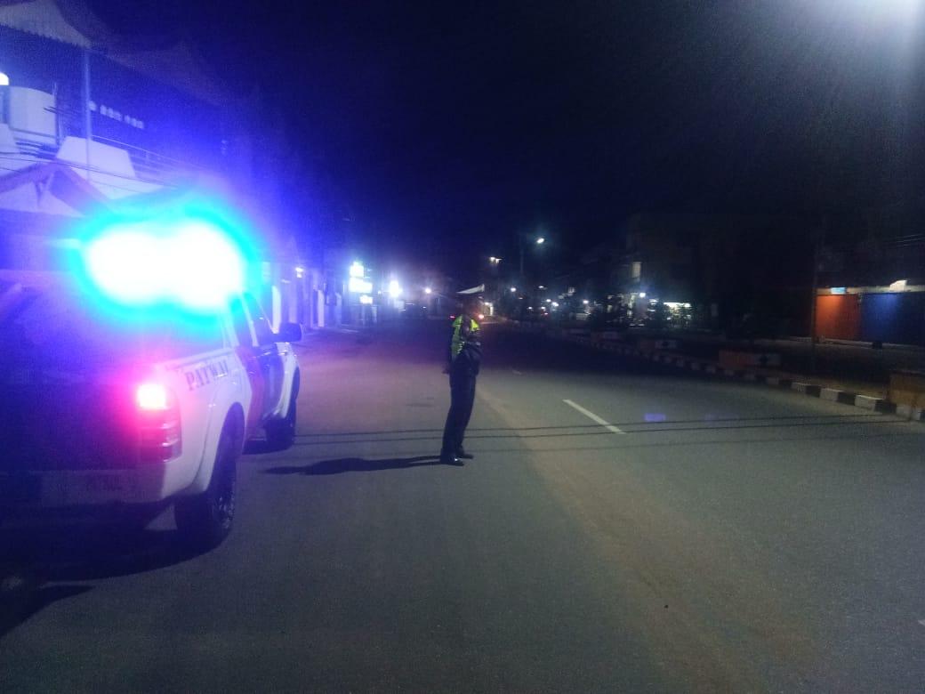 Satlantas Polres Ketapang Intensifkan Patroli Malam Hari di Jalur Rawan