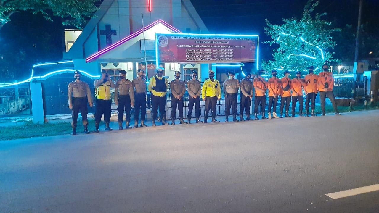 Pengamanan Gereja di Kab.Ketapang menjelang pergantian tahun berjalan aman