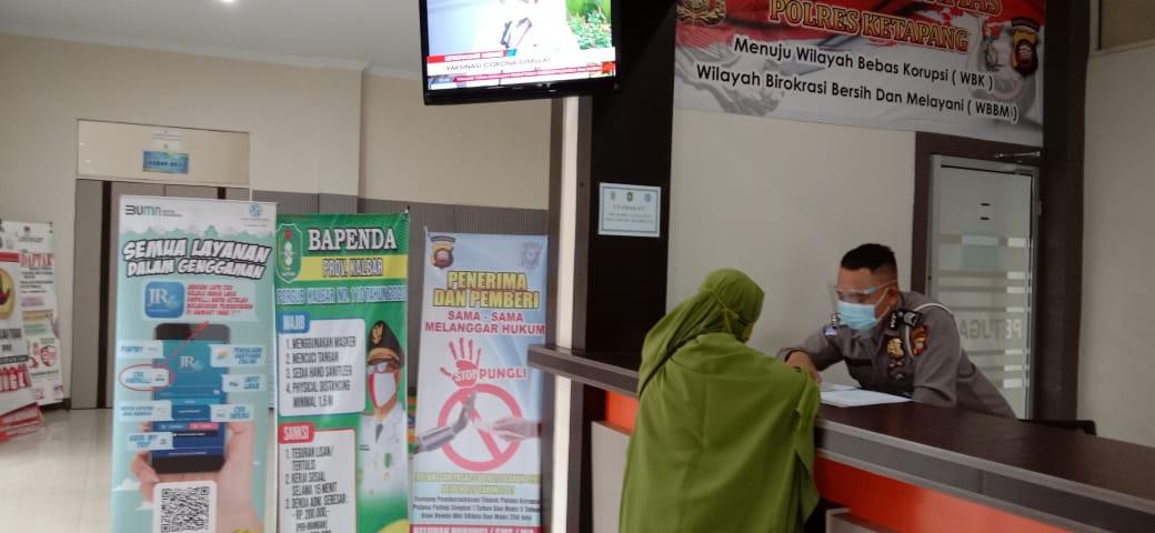 Pelayananan samsat Ketapang tetap buka, petugas pelayanan terapkan protokol kesehatan