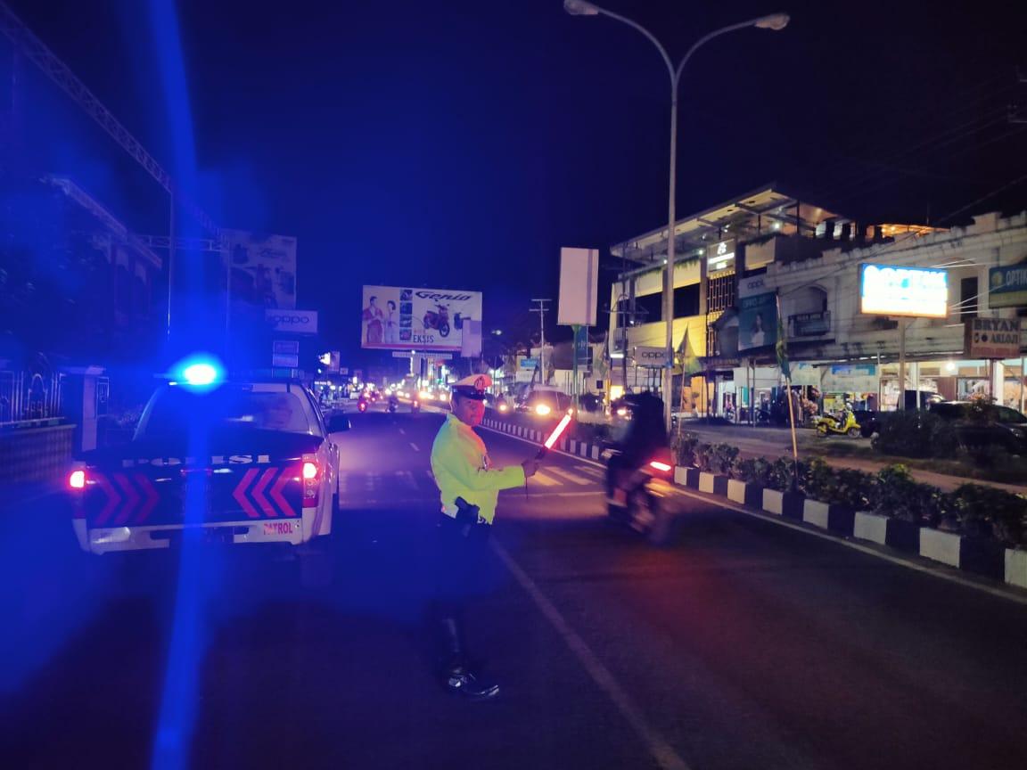 Satlantas Ketapang Gencarkan Patroli Jalan Raya Antisipasi Balap Liar