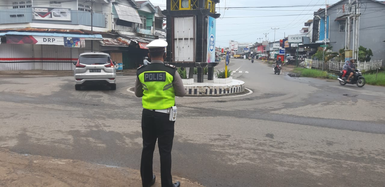 Satlantas Polres Ketapang Plotting Point Pagi Guna Tekan Angka Pelanggaran dan Laka