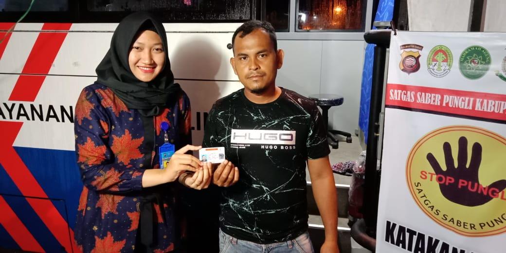 Stand SIM Keliling di Borneo Citymall Ketapang