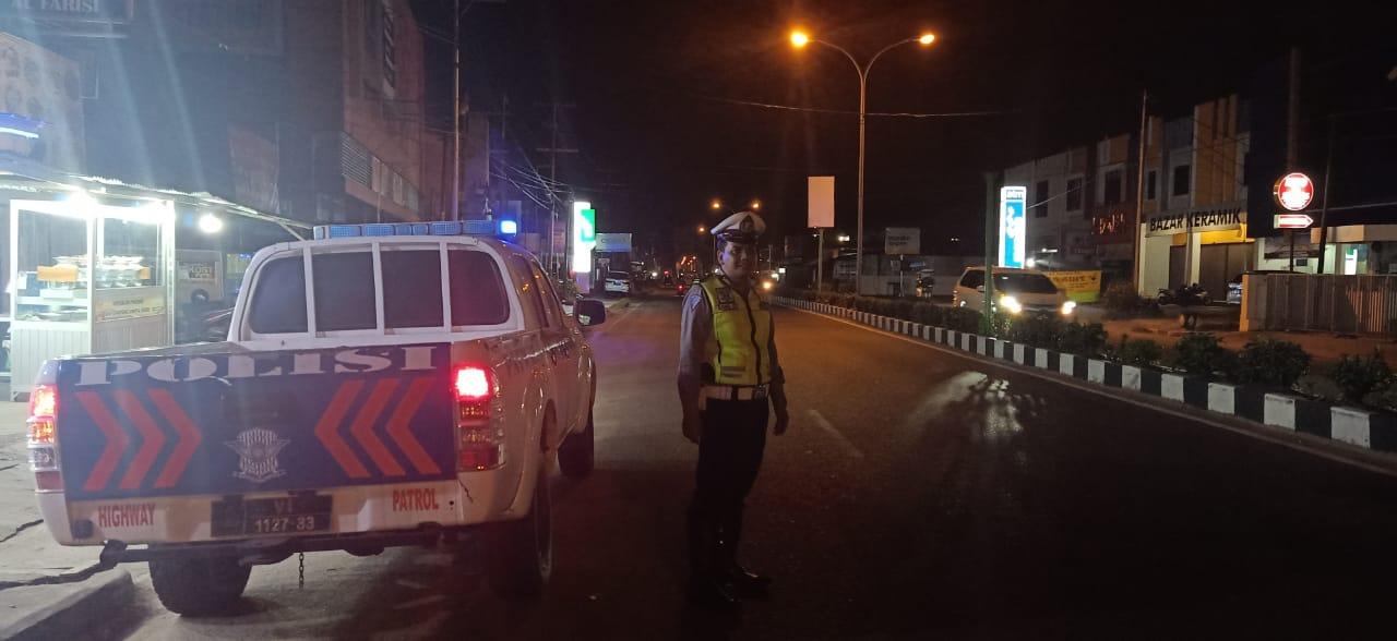 Satlantas Polres Ketapang Giat Patroli Malam Antisipasi Balapan Liar