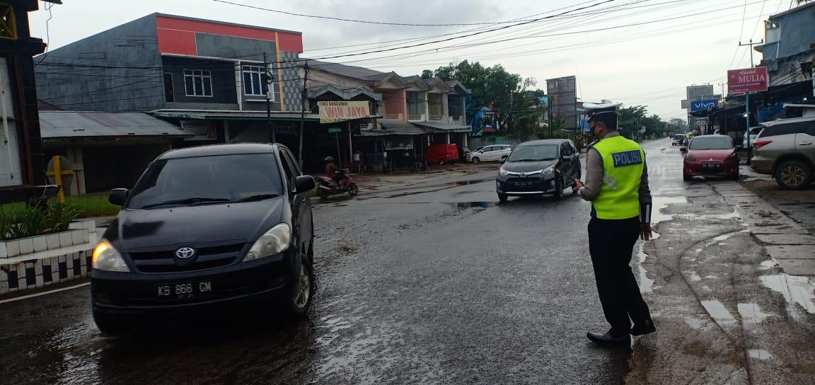 Cegah Kemacetan Arus Lalu Lintas, Satlantas Ketapang Laksanakan Gatur Lalin Siang Hari