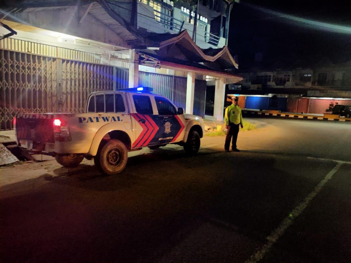 Antisipasi Tindak Kejahatan Jalanan, Sat Lantas Polres Ketapang Tingkatkan Patroli Malam Hari