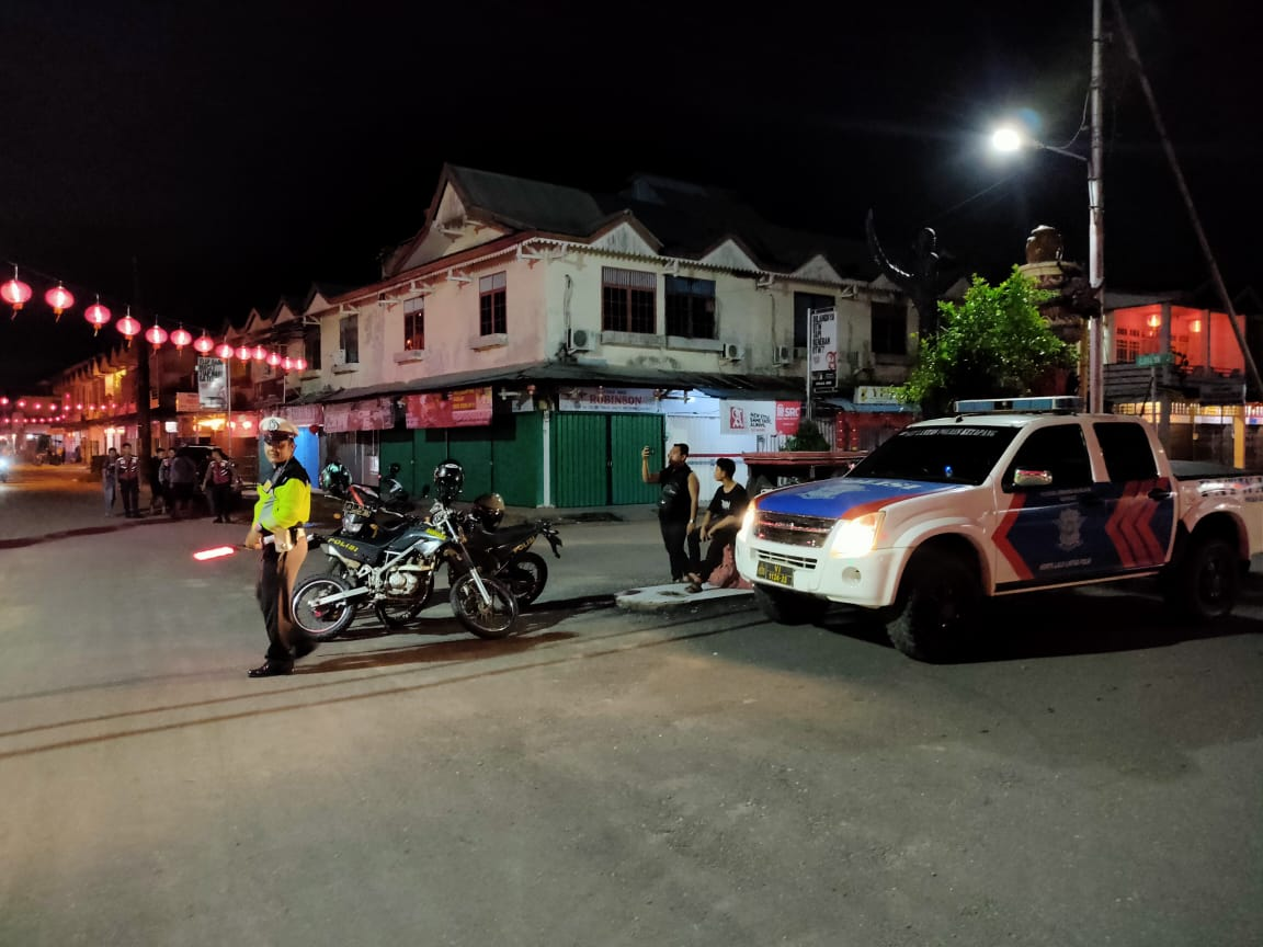 Laksanakan Patroli di sepanjang Jalan Merdeka Jelang Imlek dan Antisipasi Balap Liar
