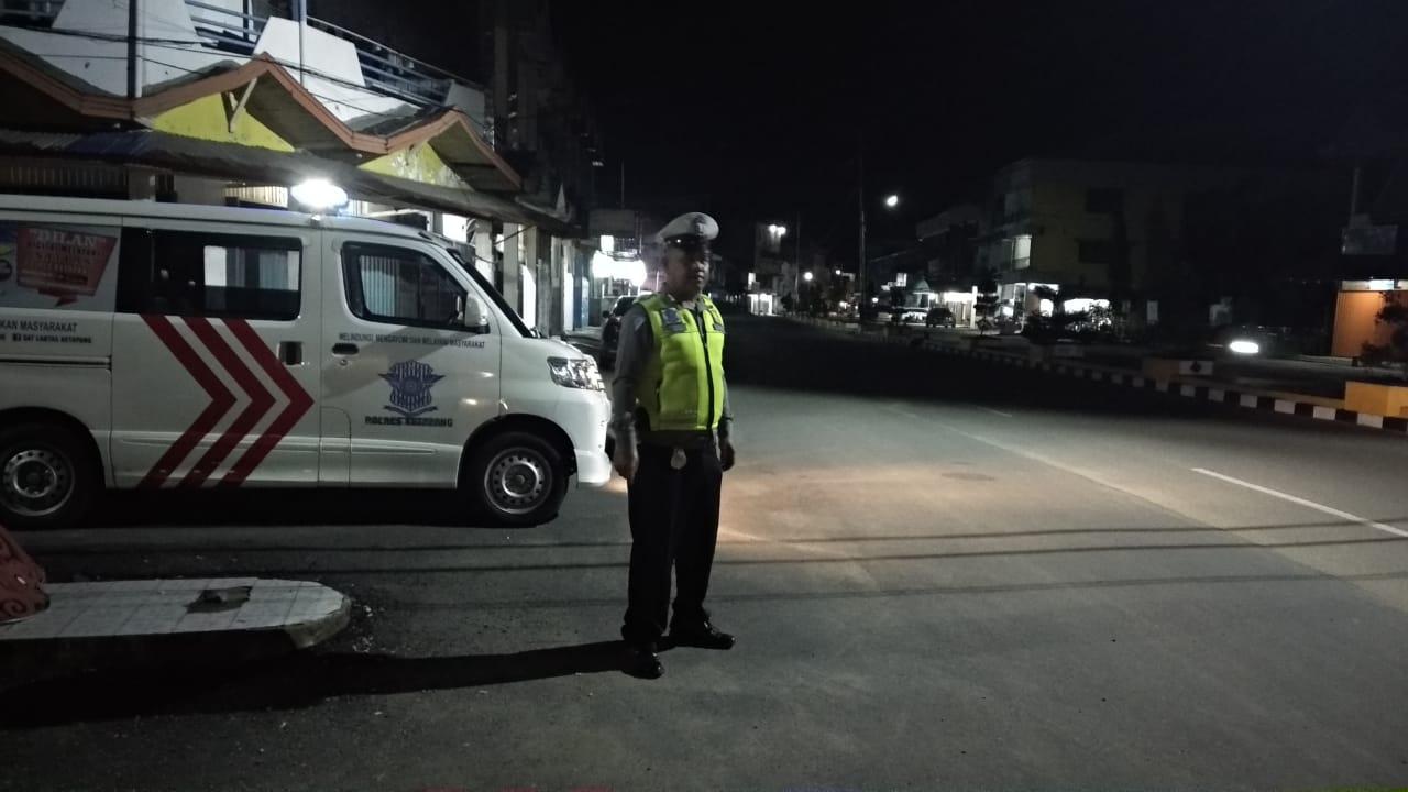 Antisipasi Kejahatan dan Balap Liar, Satlantas Polres Ketapang Optimalkan Patroli Malam
