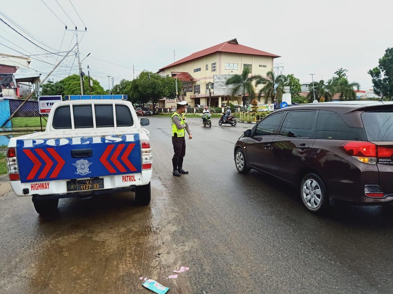 Sat Lantas Patroli Lalu Lintas di Daerah Rawan Laka dan Pelanggaran