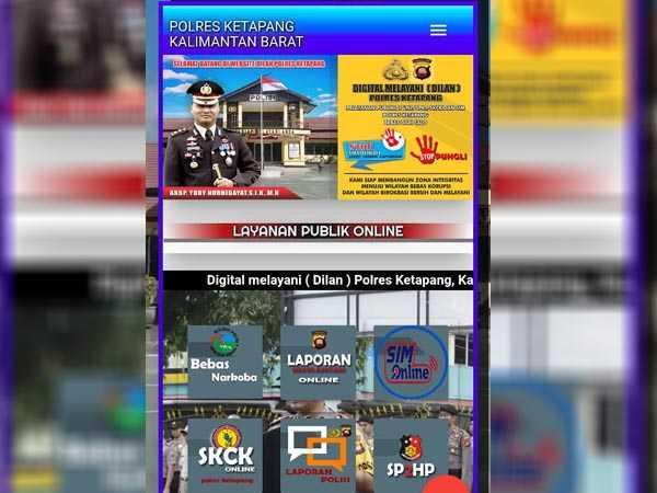 DILAN, APLIKASI LAYANAN PUBLIK TERBARU POLRES KETAPANG GUNA MEMBANGUN ZONA INTEGRITAS