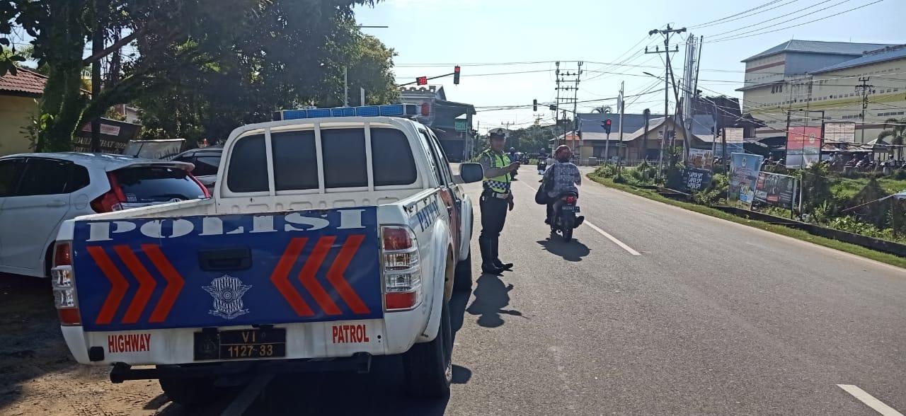 Satlantas Polres Ketapang Patroli Siang Hari