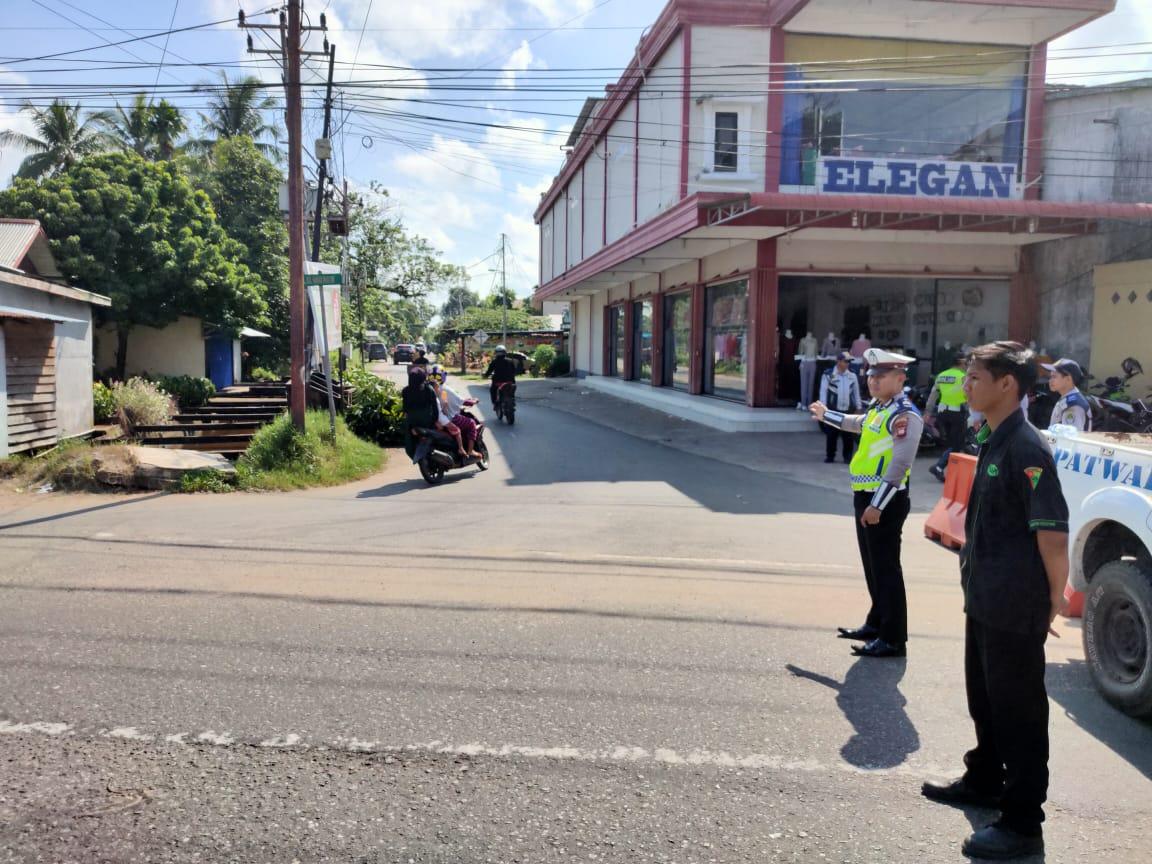 Satlantas Polres Ketapang Laksanakan Pengaman Jalan Untuk Perayaan Hari Jadi Kota Ketapang