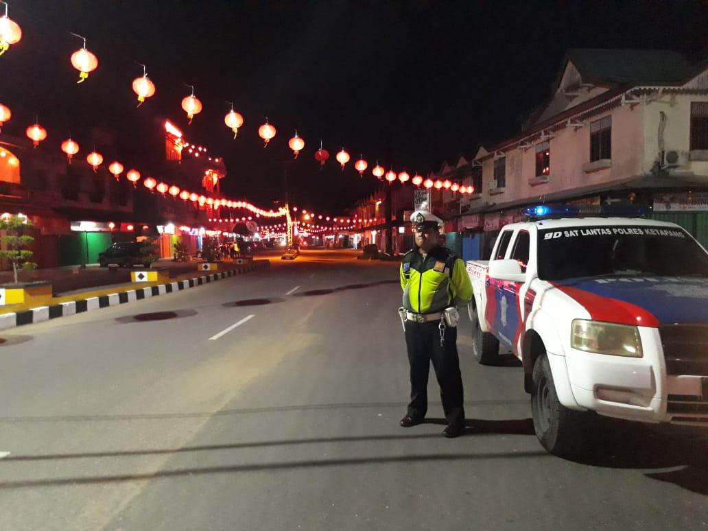 Rutin Laksanakan Patroli Seputaran Kota Ketapang Ciptakan Kamseltibcar Lantas