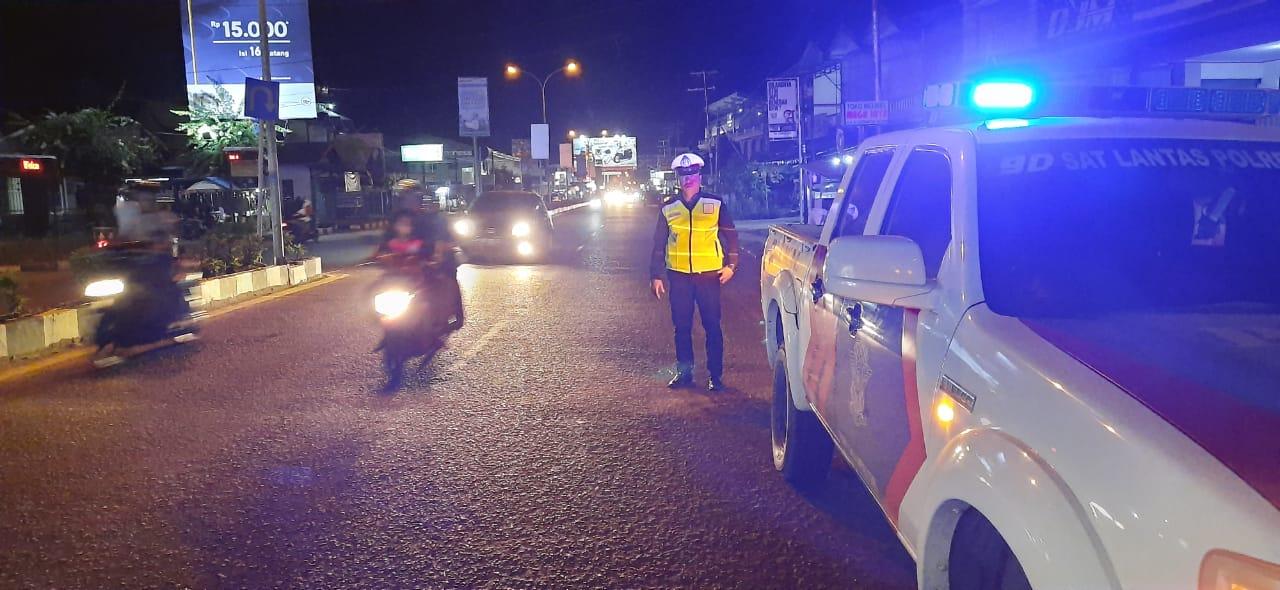 Cegah Balap Liar, Satlantas Polres Ketapang Patroli Malam Hari