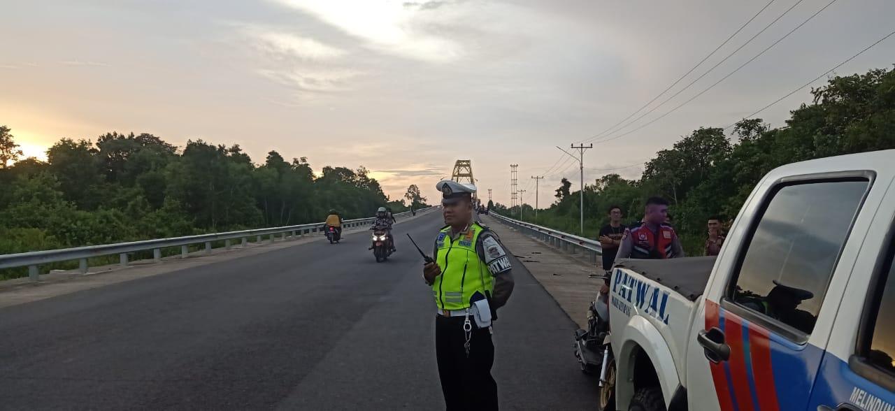 Sat Lantas Polres Ketapang Patroli Sore Antisipasi Balapan Liar