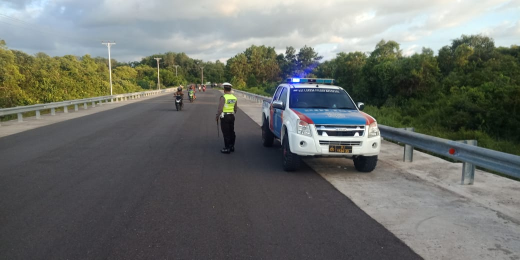 Patroli Jembatan Pawan 5 Gagalkan Aksi Balap Liar