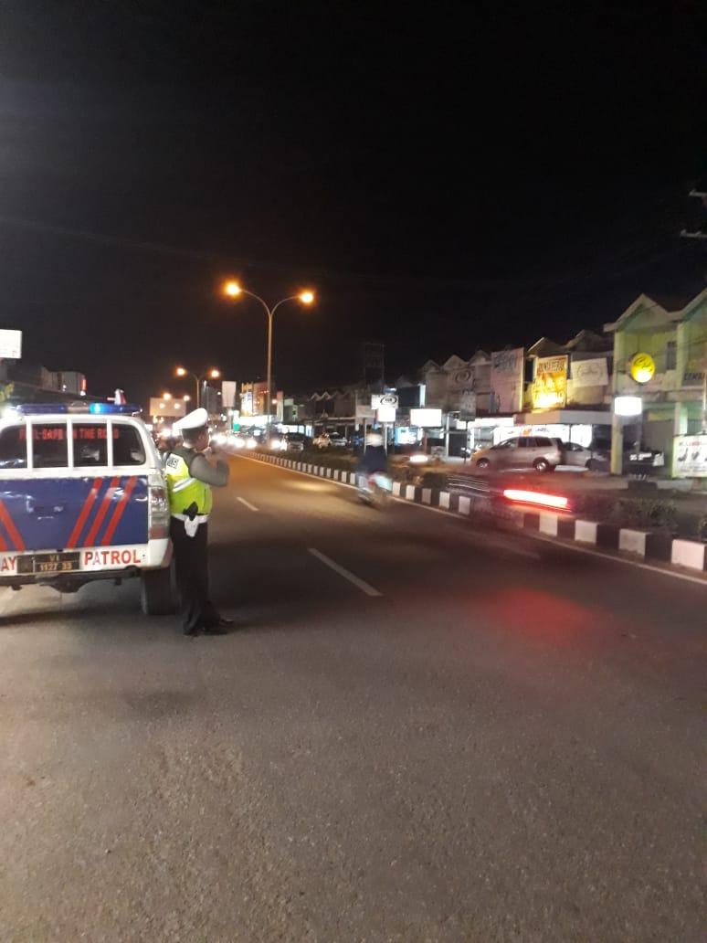 Patroli Personil lalu lintas di KTL R.Suprapto