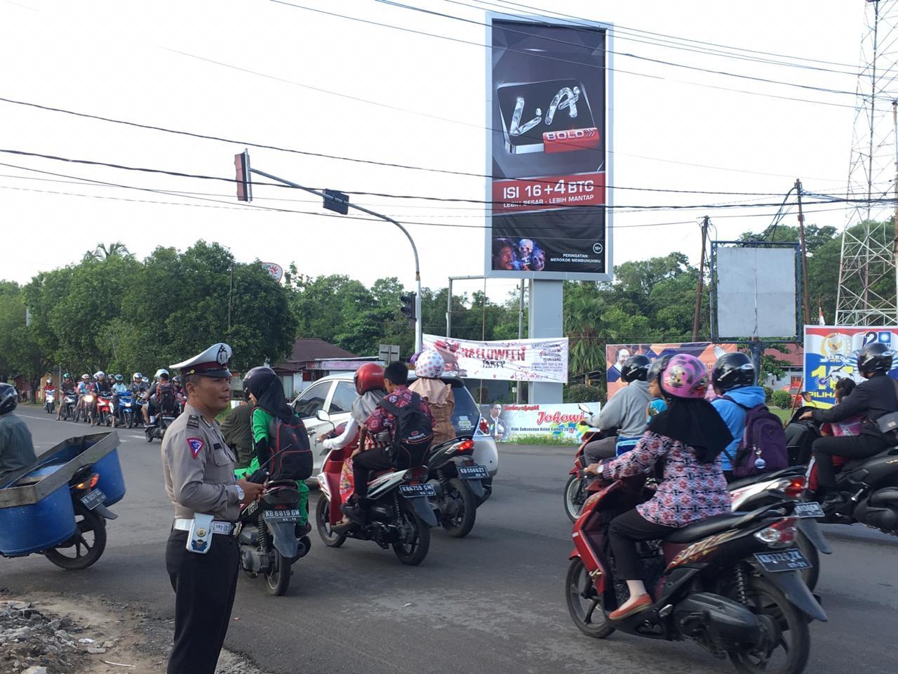 Simpang Mapolres Zero Pelanggaran lalu lintas
