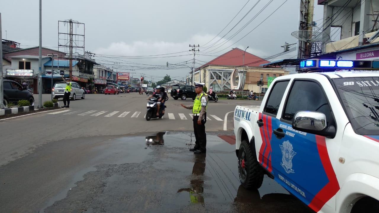 H-6 lebaran Polantas laksanakan kegiatan Preventif rutin mencegah kemacetan dan kriminalitas di Jala