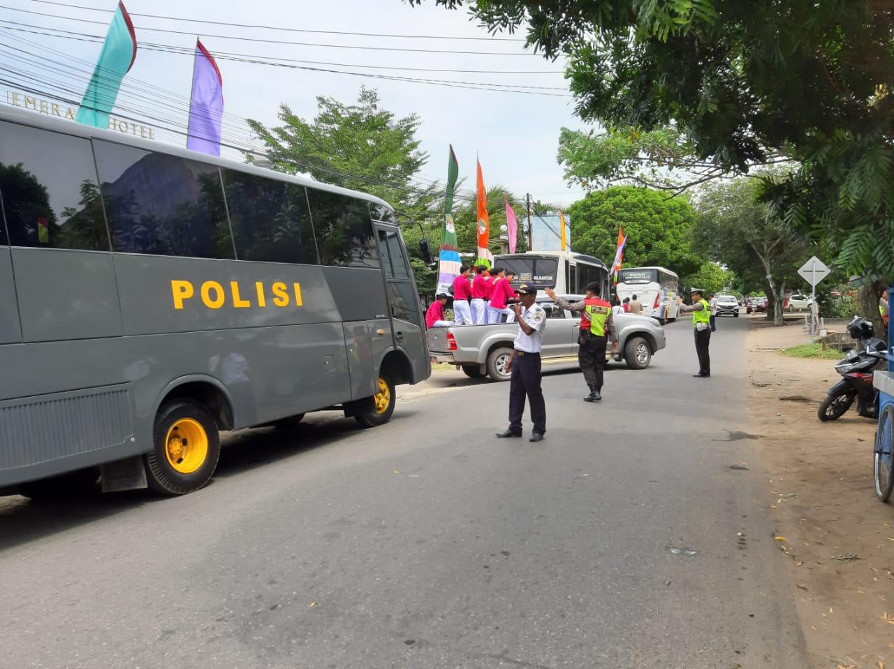 Pengamanan kegiatan lomba Pesparawi di Borneo Emerald berjalan aman dan lancar.