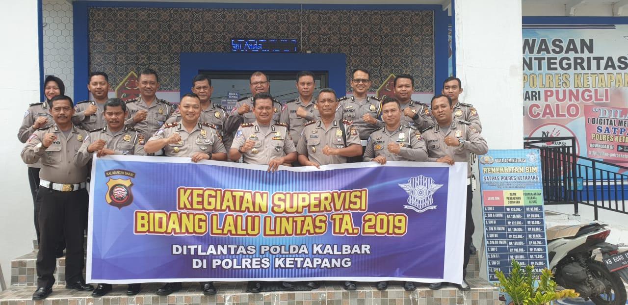 Supervisi Wadir Lantas Polda Kalbar di Polres Ketapang sekaligus meninjau layanan Publik Satlantas