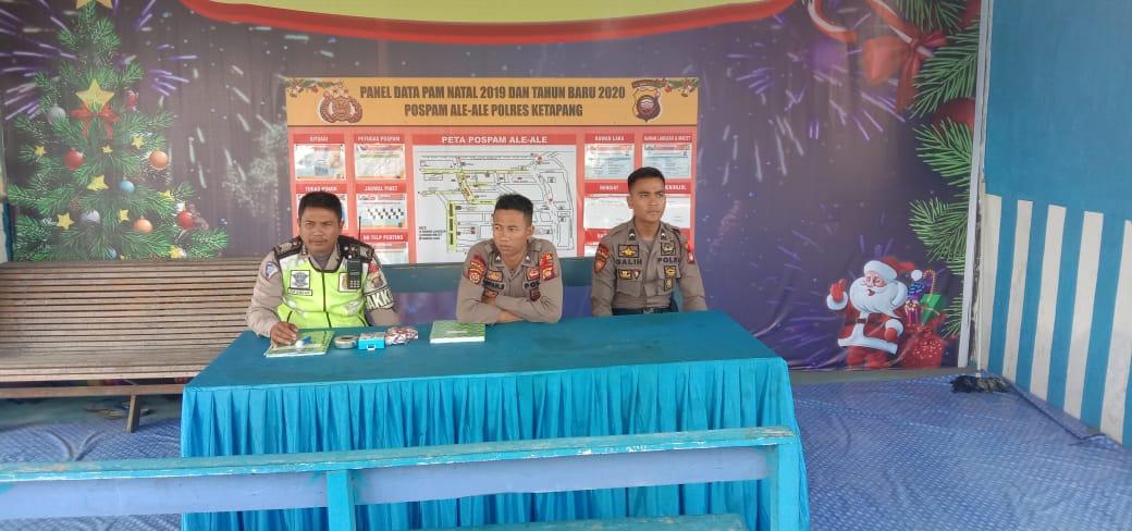 Satgas Kamseltibcar laksanakan pengamanan Pos Pelayanan Ale Ale Operasi Lilin Kapuas 2019