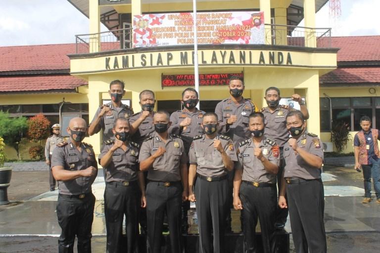 Awal tahun baru 91 Personel Polres Ketapang Naik Pangkat