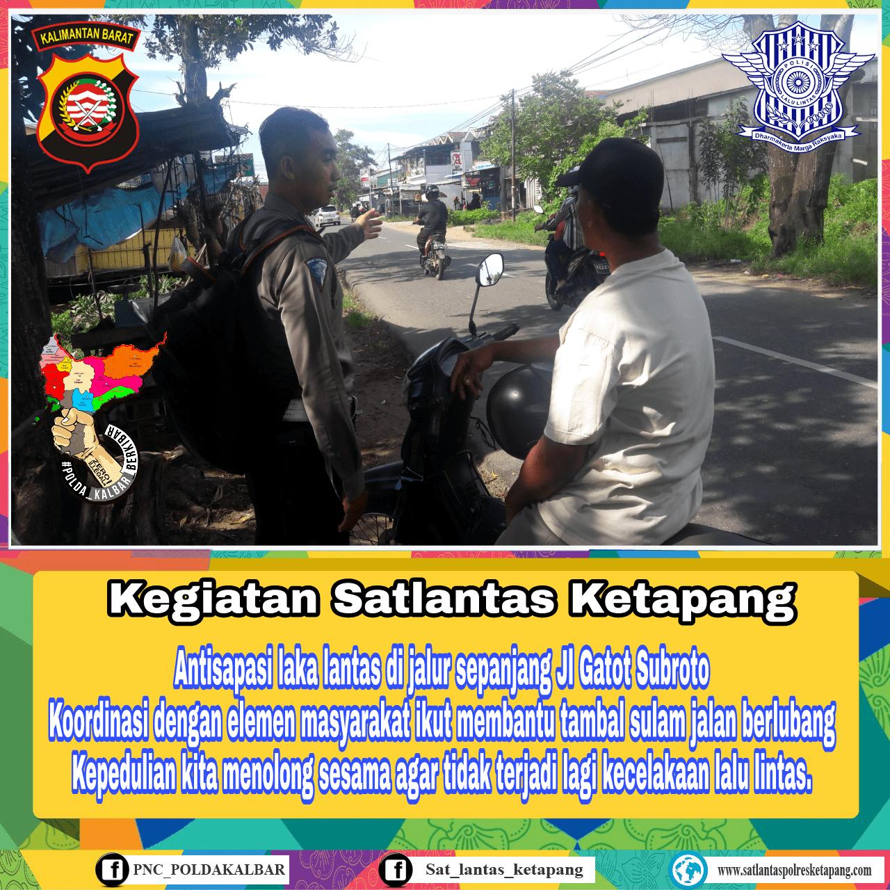 Waspada Jalan Gatot Subroto rawan kecelakaan lalu lintas